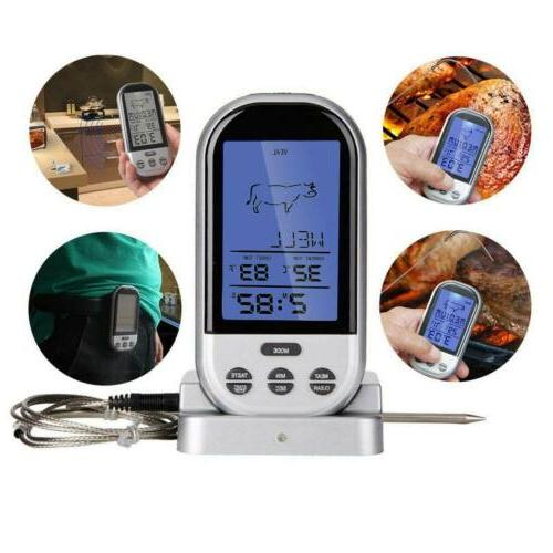 wireless meat thermometer oven smoker bbq grill