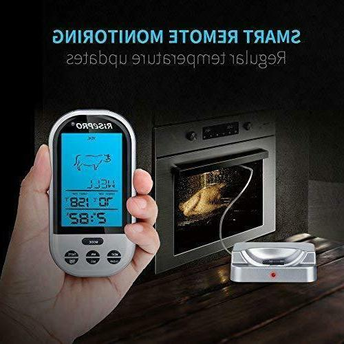 Wireless Meat Thermometer Smoker BBQ Grill Digital Food