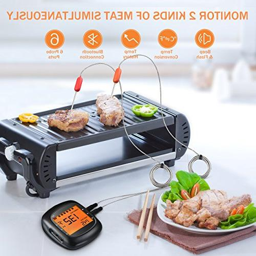 Habor Wireless Remote Meat Digital Larger LCD Alarm Monitor for and , Bluetooth