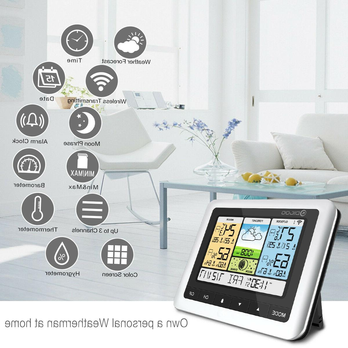 DIGOO Weather Station Thermometer Indoor Outdoor