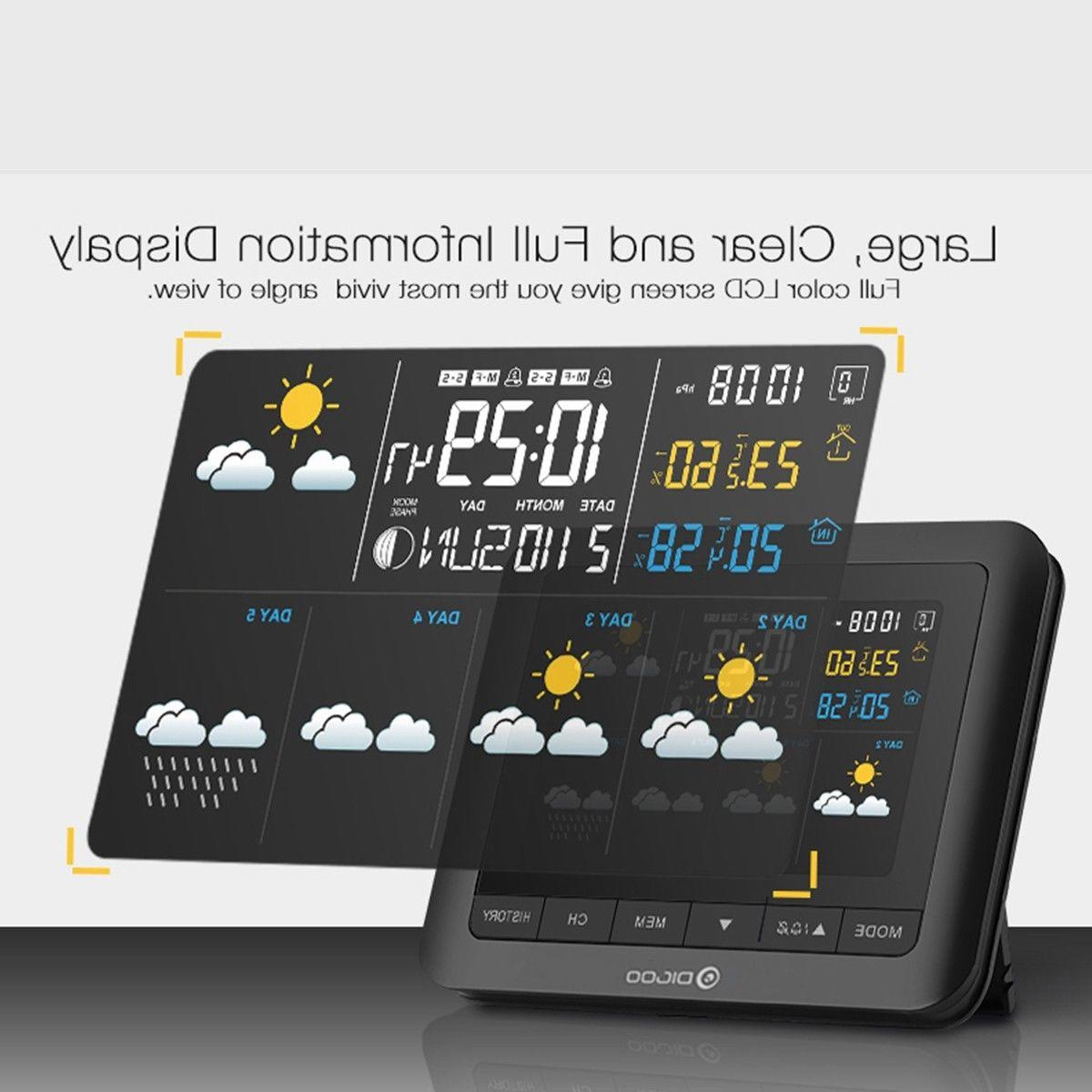 DIGOO Weather LCD Thermometer Barometer In& Outdoor US