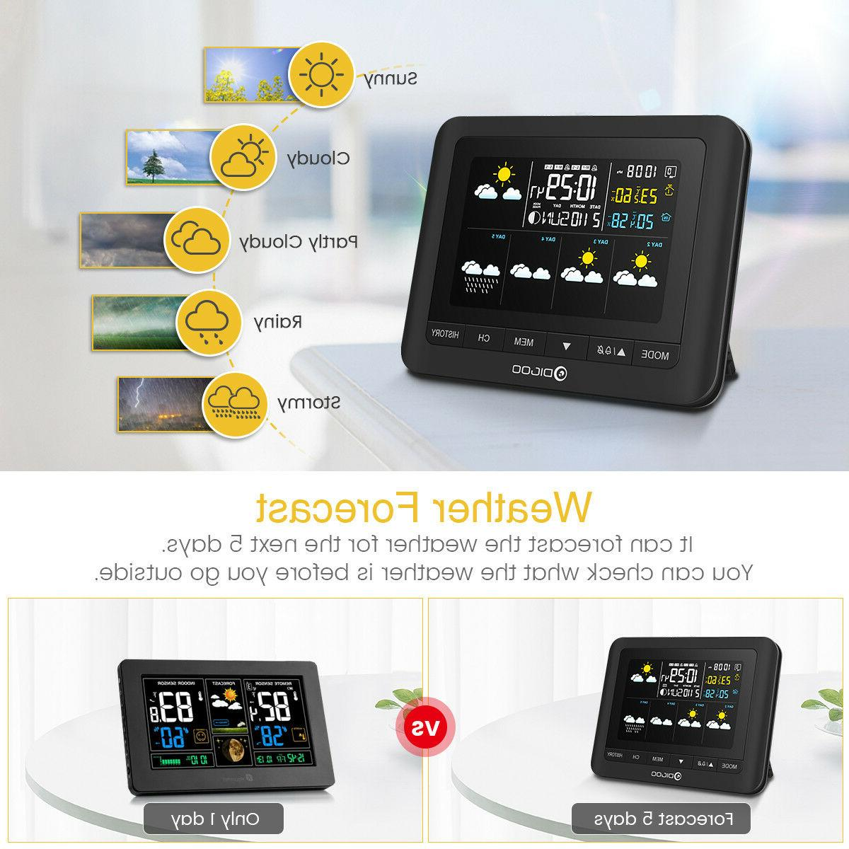 DIGOO Weather LCD Thermometer Barometer In&