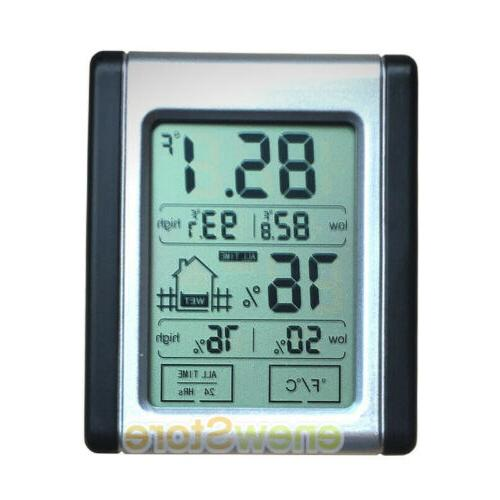 Wireless Weather LCD Touch Humidity Indoor US