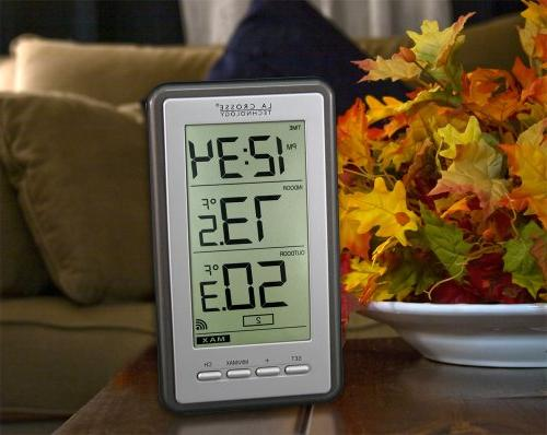 WS-9160U-IT Indoor/Outdoor Wireless Thermometer in Chrome Finish