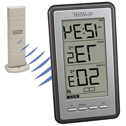 WS-9160U-IT Indoor/Outdoor Wireless Thermometer Chrome Finish