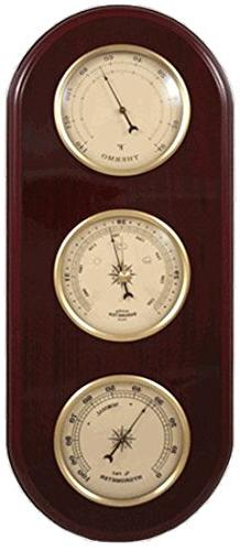 Ambient Weather WS-YG313-Y Cherry Finish Brass Bezel Traditi