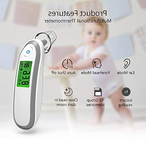 Yonker Forehead Ear Thermometer Infrared Thermometer for Indicator, Convertible, YK-IRT1