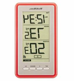 Large-Digit Indoor/Outdoor Color Spot Thermometer & Clock, R
