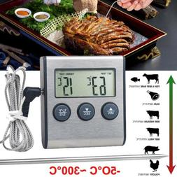 LCD Digital BBQ Thermometer LCD Grill Meat Kitchen Oven Food