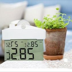 LCD Digital House Suction Cup Thermometer And Hygrometer Ind