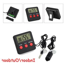 LCD Digital Indoor Outdoor Thermometer Hygrometer Humidity M