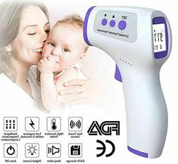 LCD Digital Infrared Thermometer Non-contact Forehead Ear Bo