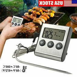 LCD Digital Meat Thermometer Barbecue Cooking Oven BBQ Grill