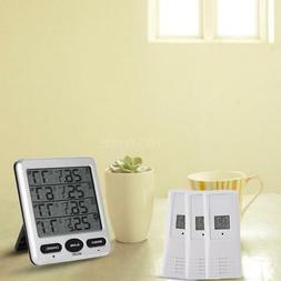 LCD Digital Thermometer Hygrometer Temperature With Alarm&Re