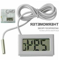 LCD Digital Thermometer With Probe For Fridges Freezers Cool