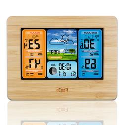 LCD Digital Weather Station Indoor/Outdoor Clock Humidity Th