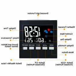 LCD Digital Weather Station Multi-function Thermometer Hygro