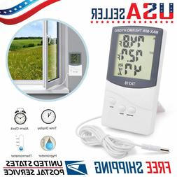 LCD Indoor Outdoor Thermometer Digital Hygrometer Temperatur