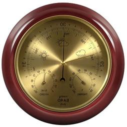 Lily's Home Cherry Finish Dial Traditional Barometer with Te