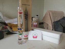 LILYS HOME GALILEO THERMOMETER TABLE DESK DECOR
