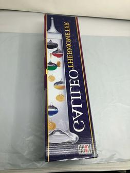 """KOCH Liquid Galileo Thermometer with 7 Color Floats 17""""  w"""