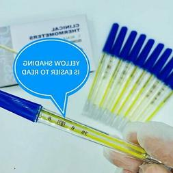 LOT 1/100 triangular glass thermometer medical household ora