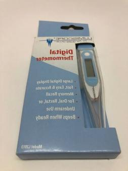 Lumiscope Digital Thermometer 4 Digit Display For Oral, Auxi