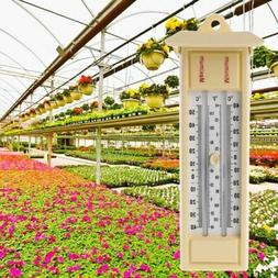 Max Min Thermometer - Indoor Outdoor Garden Greenhouse Wall
