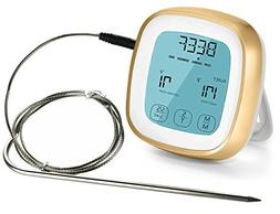 Digital Meat Themometer/Timer with Probe,Touchscreen Oven Th
