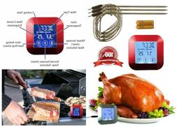 "Digital Meat Thermometer w/ 3x 7"" Stainless Steel Temperatur"