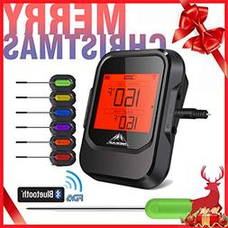 Meat Thermometer for Grilling with 6 Probe, BBQ Phone APP Re
