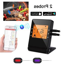 Meat Thermometer, Bluetooth Grilling Cooking Thermometer wit