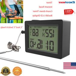 meat thermometer probe digital grill instant read