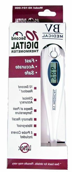 BV Medical 10 Second Digital Thermometer Oral