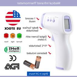 Medical Grade NON-CONTACT Infrared Forehead Thermometer LCD