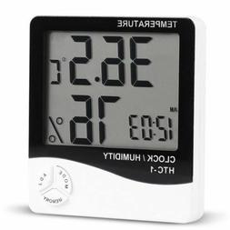 MODERN WEATHER STATION WITH CLOCK HYDROMETER THERMOMETER USA