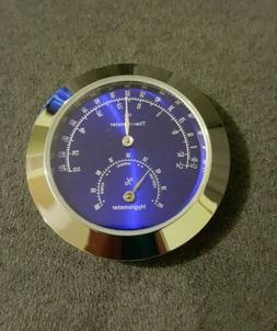 New 43mm Thermometer/Hygrometer Insert Cigar Humidor Weather