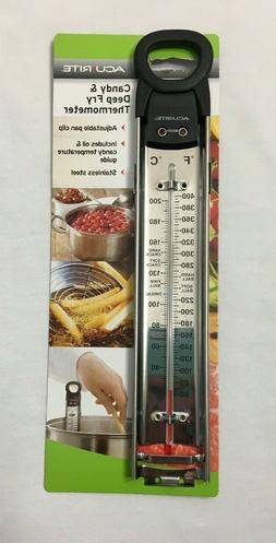 NEW Acurite Candy & Deep Fry Thermometer Stainless Steel Oil