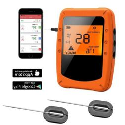 NEW Digital BBQ Thermometer Bluetooth with 2 Probes for Food