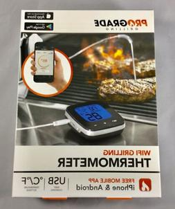 New! Pro Grade Grilling Wifi Grilling Thermometer iPhone and