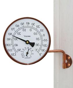 New - Conant Vermont Dial Thermometer - Living Finish Copper