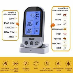 New Wireless Remote Food Meat Thermometer Dual Probe for BBQ
