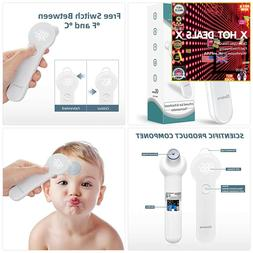 No Touch LED Forehead and Ear Thermometer for Fever, Infrare