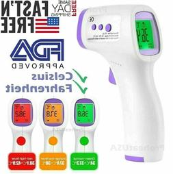 Non contact Infrared Digital Forehead Thermometer Baby Adult