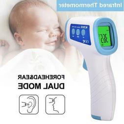 Non-contact Infrared Ear Forehead Thermometer with LCD Displ