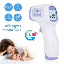 Non Contact LCD Digital IR Infrared Forehead Thermometer Adu