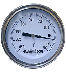 """1/2"""" NPT Threaded Stainless Steel Thermometer for a Moonshin"""
