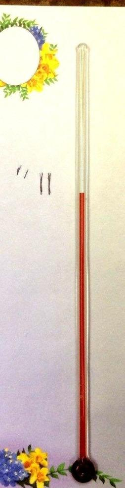 ONE 11 INCH GLASS REPLACEMENT THERMOMETER TUBE FOR ADVERTISI