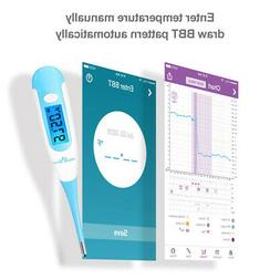 Easy@Home Digital Oral Basal Thermometer With Large Blue Bac