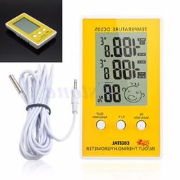 Outdoor Indoor Digital LCD Humidity Thermometer Hygrometer M